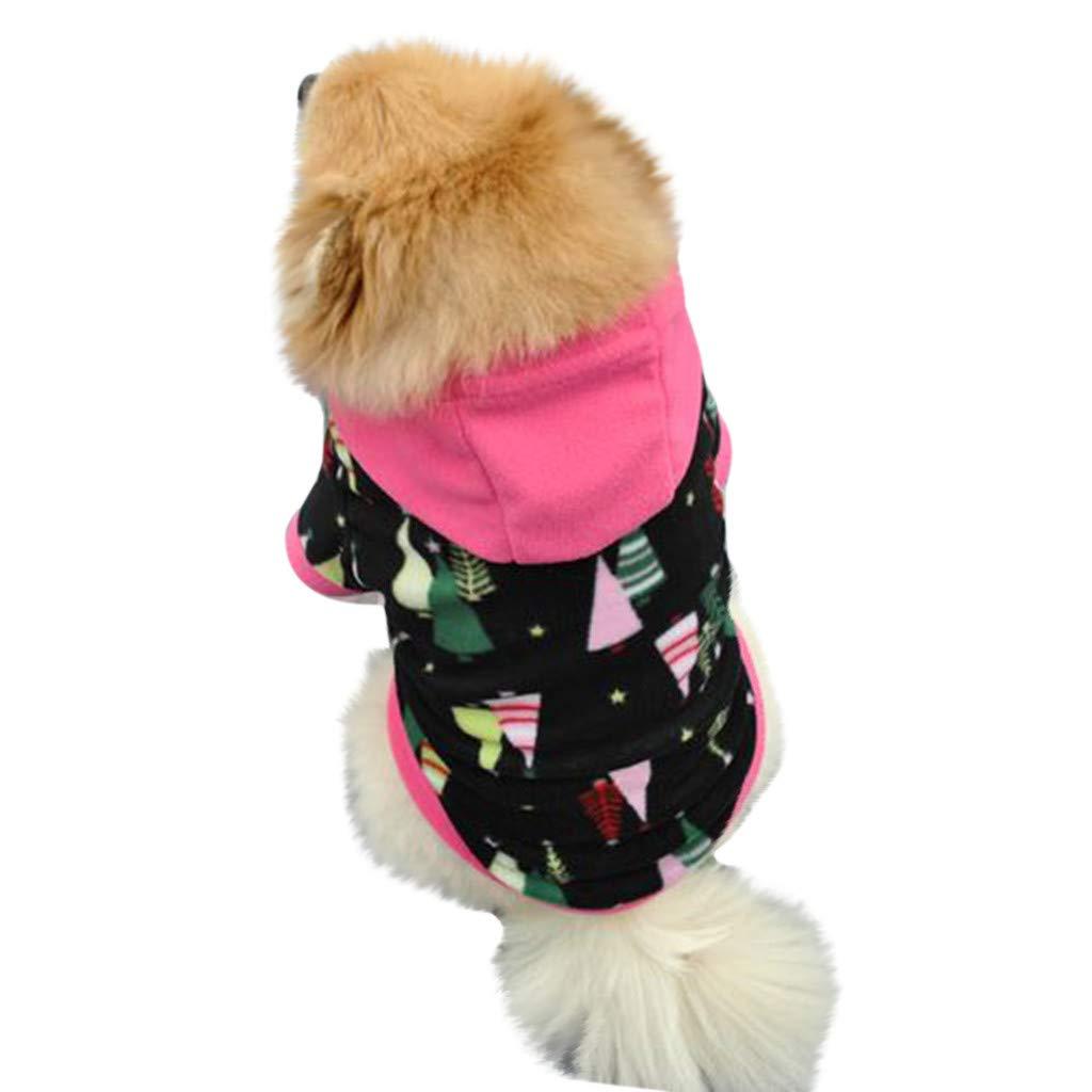 FTXJ Puppy Hooded Sweatershirt Fleece for Small Dog Girls Boys Winter Warm Sweater Coat Puppy Costume for Chihuahua/Yorkie / Keji/Bago …