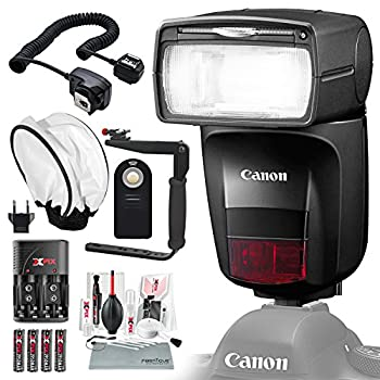 Image of Diffusers Canon Speedlite 470EX-AI Flash with Diffuser, Batteries & Charger Kit, Xpix Cleaning Accessories, and Basic Photo Bundle