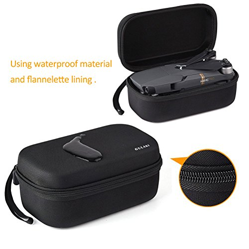 DJI Mavic Pro Case,GULAKI Mavic Battery Portable Bag,Hardshell Carrying Case for Foldable Drone Body and Remote Controller Transmitter with Fireproof Storage Box(DJI Mavic Not Included)