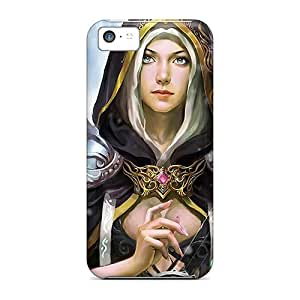 Anti-scratch Case Cover 7AM Protective Angel With Harp Case For Iphone 5c