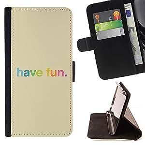 Momo Phone Case / Flip Funda de Cuero Case Cover - Have Fun colorido del arco iris feliz - Sony Xperia M5