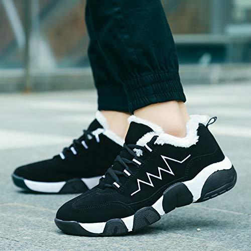 Suela Cálido Goma Para Jóvenes Deportivas Con De Estilo Blackwhite Zapatos Hombres Cómodos Mantén Zapatillas Wddgpzydx Ocasionales El Ligeros Cxgqvx