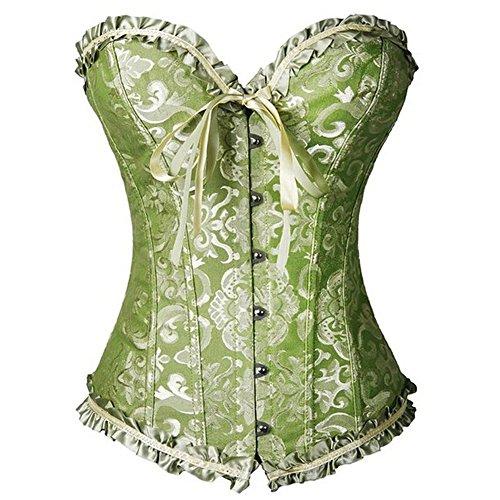 FeelinGirl Women's Satin Sweetheart Overbust Bridal Waist Cincher Corsets...
