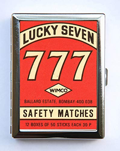 Lucky Seven 777 Safety Match Cigarette Case Wallet Business Card Holder