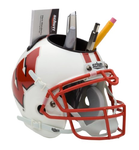 NCAA Wisconsin Badgers Mini Helmet Desk Caddy (Helmet Team Badgers Wisconsin)
