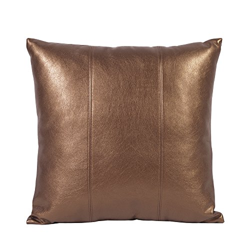 Howard Elliott 1-772 Square Pillow, 16 x 16-Inch, Luxe Bronze