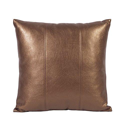 Bronze Pillow - Howard Elliott 1-772 Square Pillow, 16 x 16-Inch, Luxe Bronze