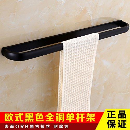 Towel Rack Single Pole Mangeoo All European style black bath towel rack, antique bathroom rack set,Tissue box