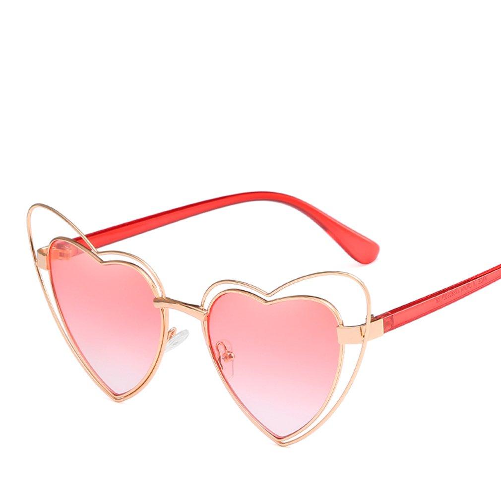 Amazon.com: Mujer forma de corazón de playa anteojos de sol ...