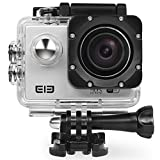 ELE Elephone Explorer Sport Action Camera WiFi 16MP 4K 1080P 2.0 inch LCD Screen 170° Wide Lens Waterproof Sports Video Camera DV Cam Camcorder with Accessories Kit for Bicycle Diving Swimming, Sliver
