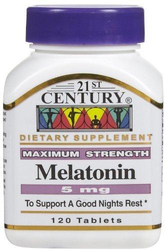 Amazon.com: 21st Century Health Care, Melatonin, 5 mg, 120 Tablets ...