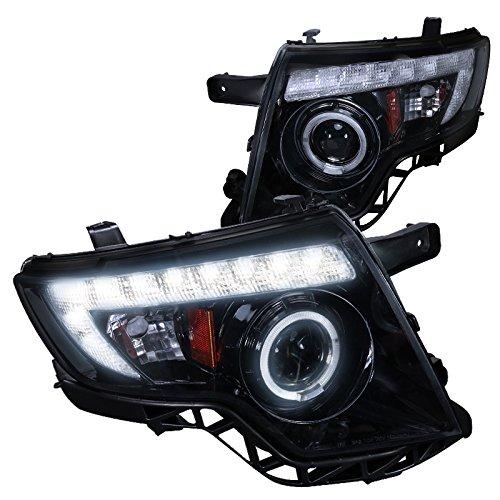 Spec-D Tuning 2LHP-EDG07G-TM Ford Edge 4Dr Glossy Black Projector Head Lights
