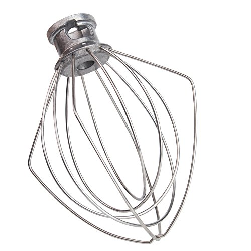 PAKIMARK K45WW Wire Whip for Tilt-Head Stand Mixer for KitchenAid, Stainless Steel Egg Cream Stirrer, Flour Cake Balloon Whisk, Easy for Kitchen and Life by PAKIMARK (Image #3)'