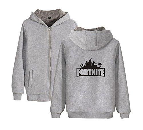 Uomini Grey Con Invernale E Donne Outwear Zip Cappuccio Per Plus Cappotto Aivosen Unisex Comode Cashmere Fortnite 7ZpwqBg
