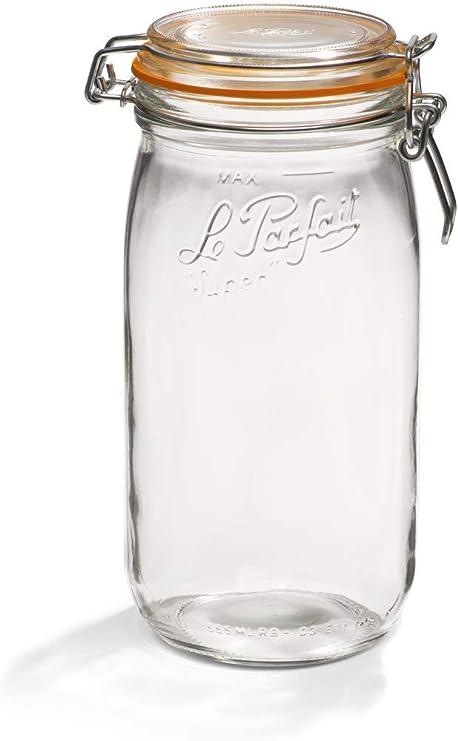Lot de 2 1.5 L maison verre Pâtes Pot Préserver Stockage Vis Couvercle Bocaux