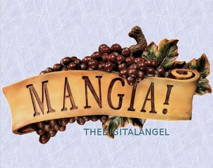(Mangia Italian Style Wall plaque statue EAT! Sculpture (The digital Angel Decor))