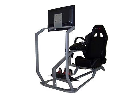 GTR Simulator GT - Cabina para simulador de conducción con Asiento de Carreras auténtico, Soporte