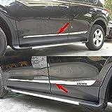 Chrome Body Side Door Moulding Trim Overlay Cover For Toyota RAV4 2014