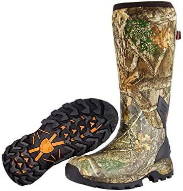HUNTSHIELD Men's Neoprene Muck Boot | Insulated Waterproof Rubber Hunting Boot | Camouflage
