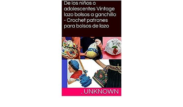 De los niños o adolescentes Vintage lazo bolsos a ganchillo ...