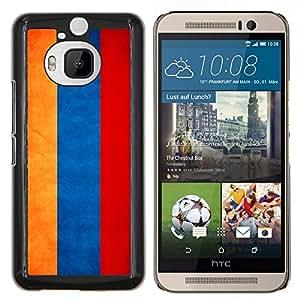 EJOOY---Cubierta de la caja de protección para la piel dura ** HTC One M9Plus M9+ M9 Plus ** --Nacional bandera de la nación País Armenia