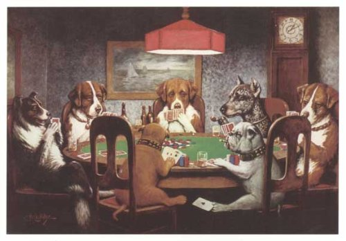Dogs Playing Poker 24x36 Art Print Poster (1999) by Pop Culture Graphics