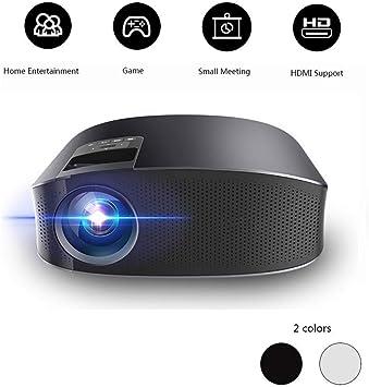 DHINGM proyector casero práctico Mini proyector, HD 1080 * 800 ...