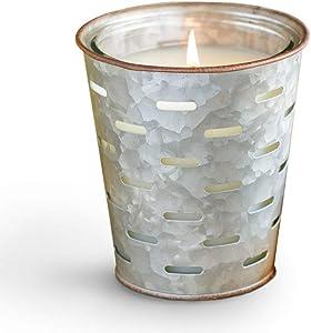 Park Hill Collection ENP10039 Tea Merchant Olive Bucket Candle, 12 oz