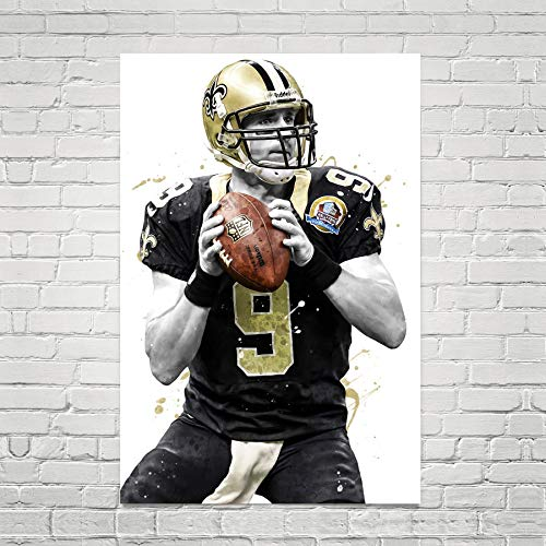 Poster Wall Art Print Gifts Drew Brees New Orleans Saints Home Decor