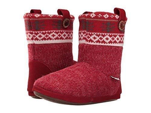Foamtreads Women's Aish Grey/Red Slipper from Foamtreads