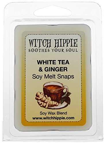 White Tea & Ginger Scented Wickless Candle Tarts , 6 Natural Soy Wax Cubes By Witch (Ginger Tea Scent)