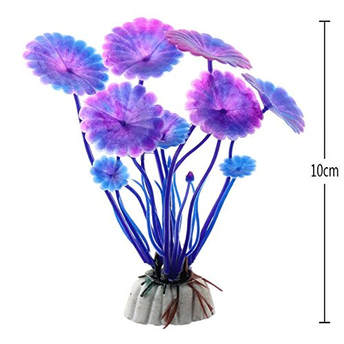 (Decorations - Artificial Aquarium Plant Decoration Fish Tank Submersible Flower Grass Ornament Decor for Aquarium Underwater Plant 10-30cm - by GTIN - 1 PCs)