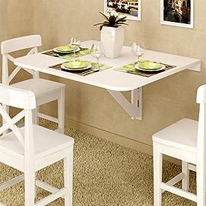 Amazon Com Large Wall Mount Drop Leaf Folding Table White