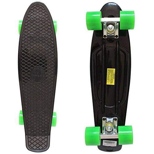 Rimable Complete 22' Skateboard (Black & Green)