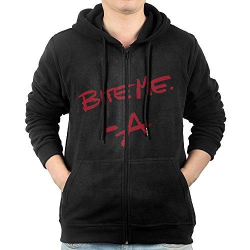 GD-One Men Pretty Little Liars BITE ME Leisure Vintage Hoodie Hooded Sweatshirt Leisure Style XL Black