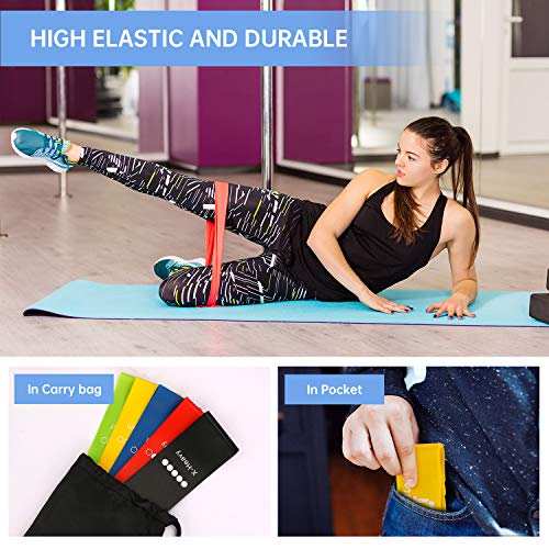 MENNYO Resistance Bands, Exercise Bands 5 Set Resistance Fitness Exercise Bands with Carry Case Ideal for Women and Men Resistance Training, Physical Therapy, Home Fitness