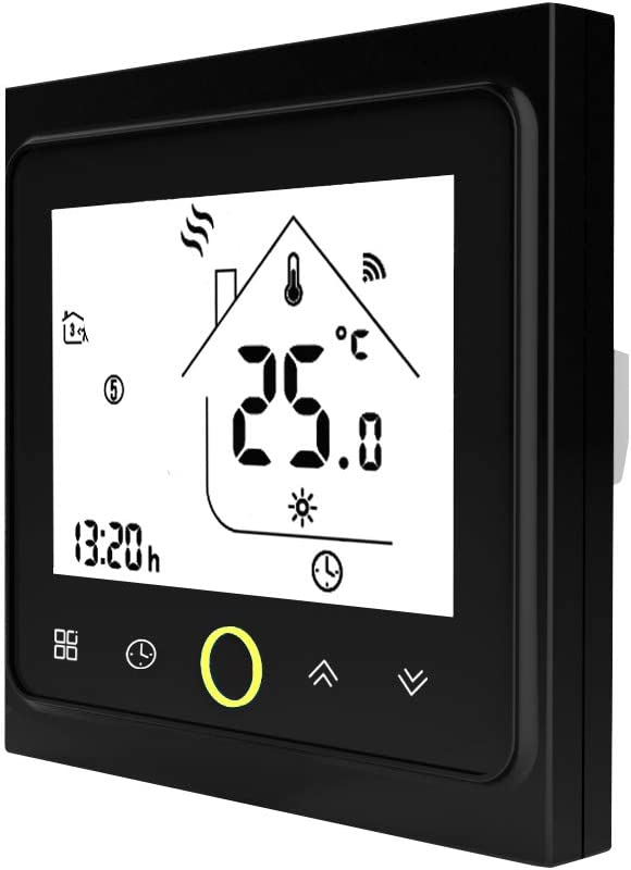 Blusea Termostato Programable WiFi 3A para calefacción Individual de calderas de Gas/Agua Funciona con Alexa/Google Home Contacto seco