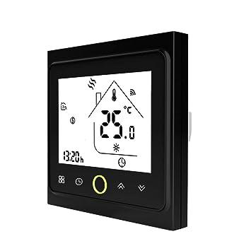 Festnight Termostato Programable del Wifi Calentador Agua Caldera Gas Programable Pantalla LCD Táctil Clear Comfort 3A Ahorro Energía Inteligente ...