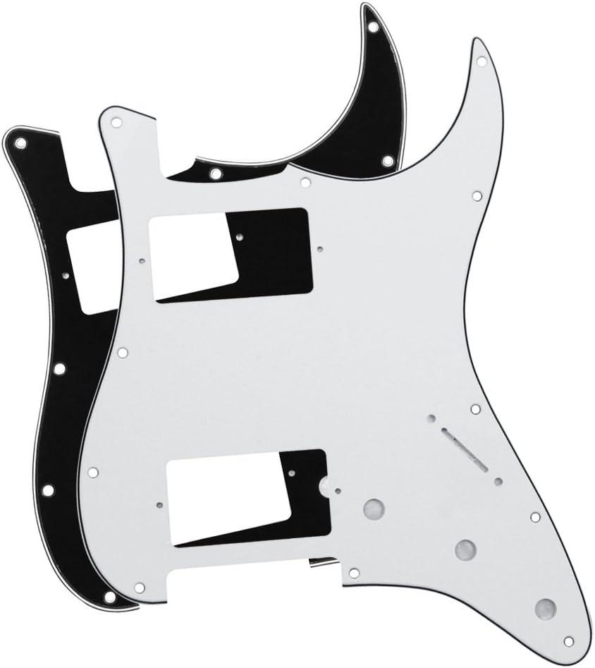 1Ply White Musiclily 290x435mm Electric Guitar Bass Blank Pickguard Material Pick Guard Scratch Plate Sheet Uncut Custom