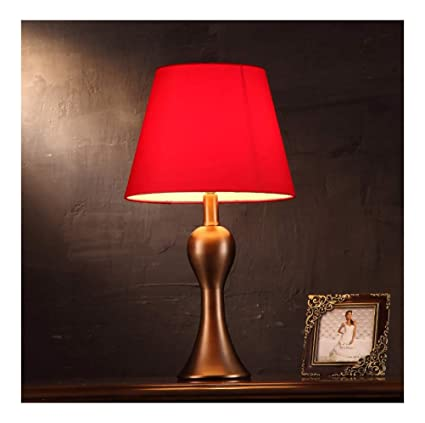 Amazon.com: PPWAN Table Lamp Red Wedding Table Lamp Bedroom ...