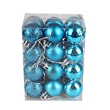 Sumen 24-Pack 30mm Christmas Tree Ball Bauble Hanging Home Party Decor (Sky Blue)
