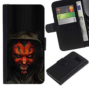 NEECELL GIFT forCITY // Billetera de cuero Caso Cubierta de protección Carcasa / Leather Wallet Case for Samsung Galaxy S6 // Darth Mutilar