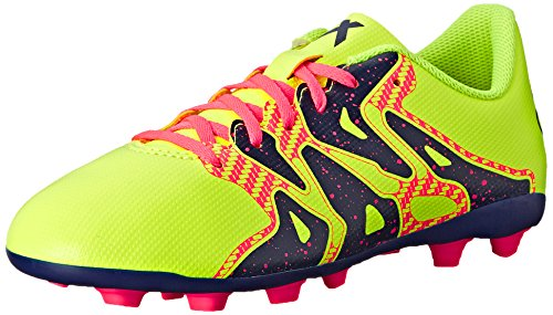 adidas Performance X 15.4 Soccer Shoe (Little Kid/Big Kid), Yellow/Midnight Indigo/Flash Red, 5.5 M US Big ()