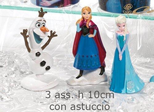 Publilancio SRL GRAN OFERTA 9 PIEZAS Estatuilla resina FROZEN Elsa Anna o Olaf DETALLE