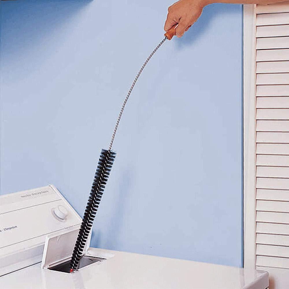 Lavatrice Straw Brush Used in Fibra Spazzola di Pulizia mobili Paglia con Flessibile in Metallo per Lavatrice Nero Womdee Spazzola di Pulizia per Lavatrice
