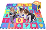 Click N' Play Alphabet and Numbers Foam Puzzle Play Mat, 36 Tiles (Each Tile Measures 12 X 12 Inch for a Total Coverage of 36 Square Feet)