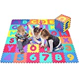 Click N' Play CNP0121 Foam Alphabet and Numbers Puzzle Play Mat, 36 Tiles (Tile Size-12x12)