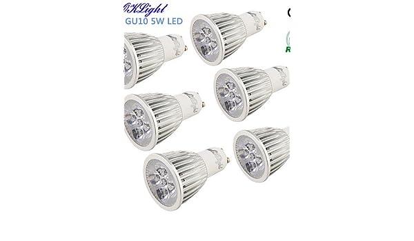 HJLHYL MNDFocos Decorativa YouOKLight R63 GU10 5 W 5 LED de Alta Potencia 450 LM Blanco C¨¢lido / Blanco Fresco AC 100-240 / AC 110-130 V 6 piezas, ...