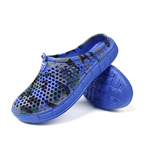 Yooeen Summer Garden Clogs Anti-Slip Beach Walking Slippers Unisex Women Men For Indoor Outdoor 1-Blue 0JBpAkc