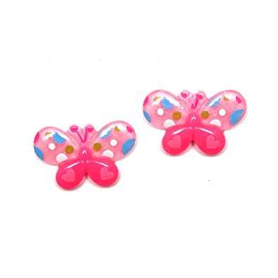 Idin Clip-on Earrings - Baby pink flower with rhinestone (approx. 16x16mm) ZUqX3e